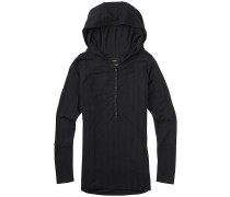 Avocet Hooded Henley T-Shirt schwarz