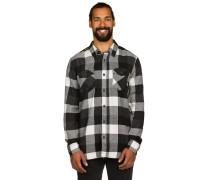 Box Flannel Hemd schwarz