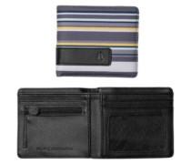 Showdown Bi-Fold Zip Wallet gray stripe
