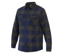 Glenwood Sherpa Flannel Shirt LS midnight plaid