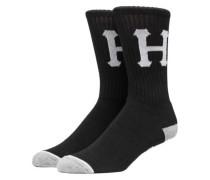 Classic H Crew Socks black