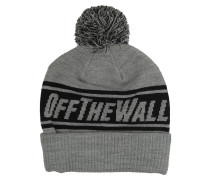 Off The Wall Pom Beanie grau