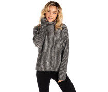 High Low Crew Pullover black