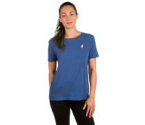 Peanuts Snoopy Skates Basic Crew T-Shirt blau