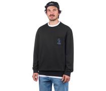 Set Up Crew Sweater washed black