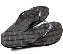 Recliner Rubber Sandalen schwarz