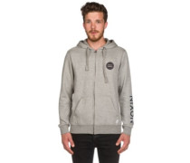 Oxford Full Zip Hoodie heather gray