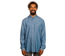 Everett Oxford Hemd blau