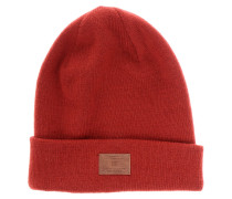 Label Beanie rot