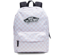 Realm Backpack chalk pink checkerboard