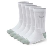 Performance Basic Crew Sock 5 Pack white