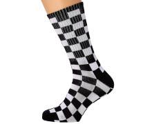 Checkerboard II Crew (6.5-9) Socks white check