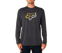 Planned Out T-Shirt LS heather black