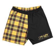 Tartan Beach Shorts yellow tartan