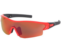 Leap Neon Red Glossy/Black Sonnenbrille