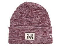Flecked Suede Beanie rot