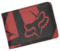 Fracture Badlands Pu Wallet flame red