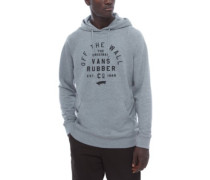 Stacked Rubber Hoodie concrete heather