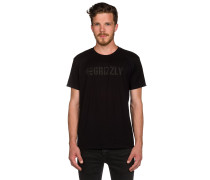 Grizzly Lock Crew T-Shirt schwarz