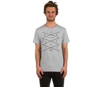 Grid T-Shirt grau