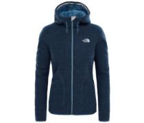 Zermatt Hooded Fleece Jacket ink blue light heather