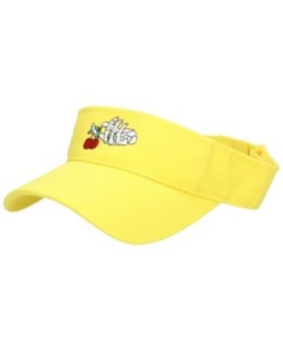 Skeleton Hand Visor Cap yellow