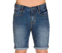 Outsider 5 Pockets Denim Shorts salty wash