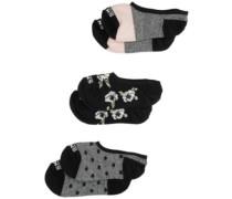 Fall Floral Canoodle 1-6 3PK Socks multi