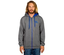 Scribble Zip Hood grau