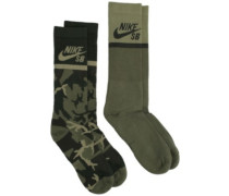 Energy Crew Skateboarding 2 Pair Socks multicolor