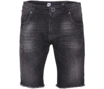 Vorta High Denim Shorts worn black wash