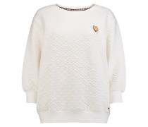 Quilted Crew Sweater weiß