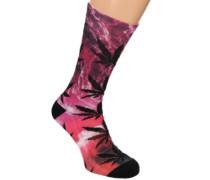 Digital Plantlife Crew Socks purple