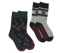 Jaquard Crew Socks multi