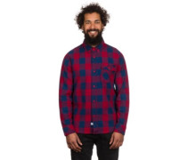 Ridge Long Sleeve Woven Shirt LS red