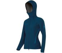 Ultimate Alpine Hooded Softshell blau