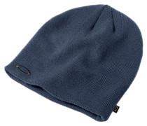 Fine Knit Beanie blau