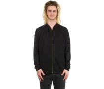 Zip Thru Bomber Jacket black