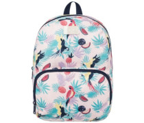 All The Colors Backpack tropical peach parrots is