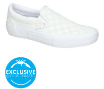 Reflective Checkerboard Pro Slip-Ons white
