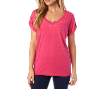 Whirlwind V Neck Roll T-Shirt rot