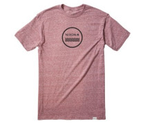 Waves III T-Shirt burgundy heather