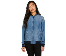 Tencel Bomber Trainingsjacke blau