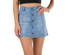 A-Line Skirt 70s blue