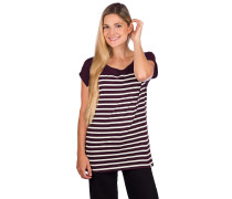 Cat Stripe T-Shirt aubergine