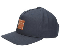 Stacked Snapback Cap navy