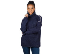 Leah Roll Neck Pullover peacoat