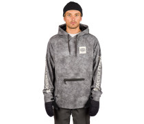 Waterproof Shred Hoodie charcoal wash
