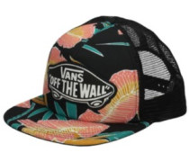 Beach Girl Trucker Cap black tropical