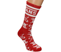 Holiday Crew (6.5-9) Socken rot